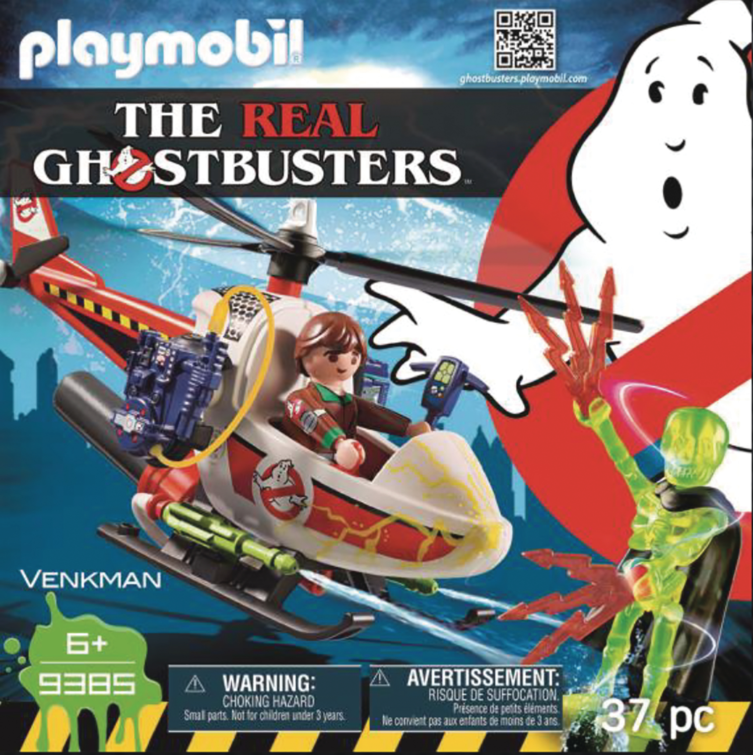PLAYMOBIL REAL GHOSTBUSTERS VENKMAN W/HELICOPTER AF SET (DEC