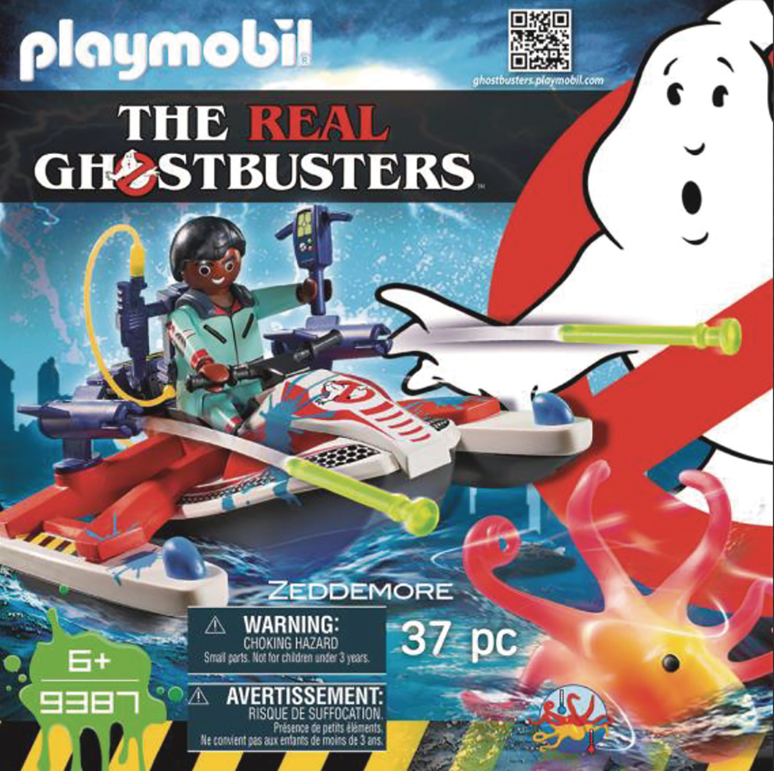 PLAYMOBIL REAL GHOSTBUSTERS ZEDDEMORE W/AQUA SCOOTER AF SET