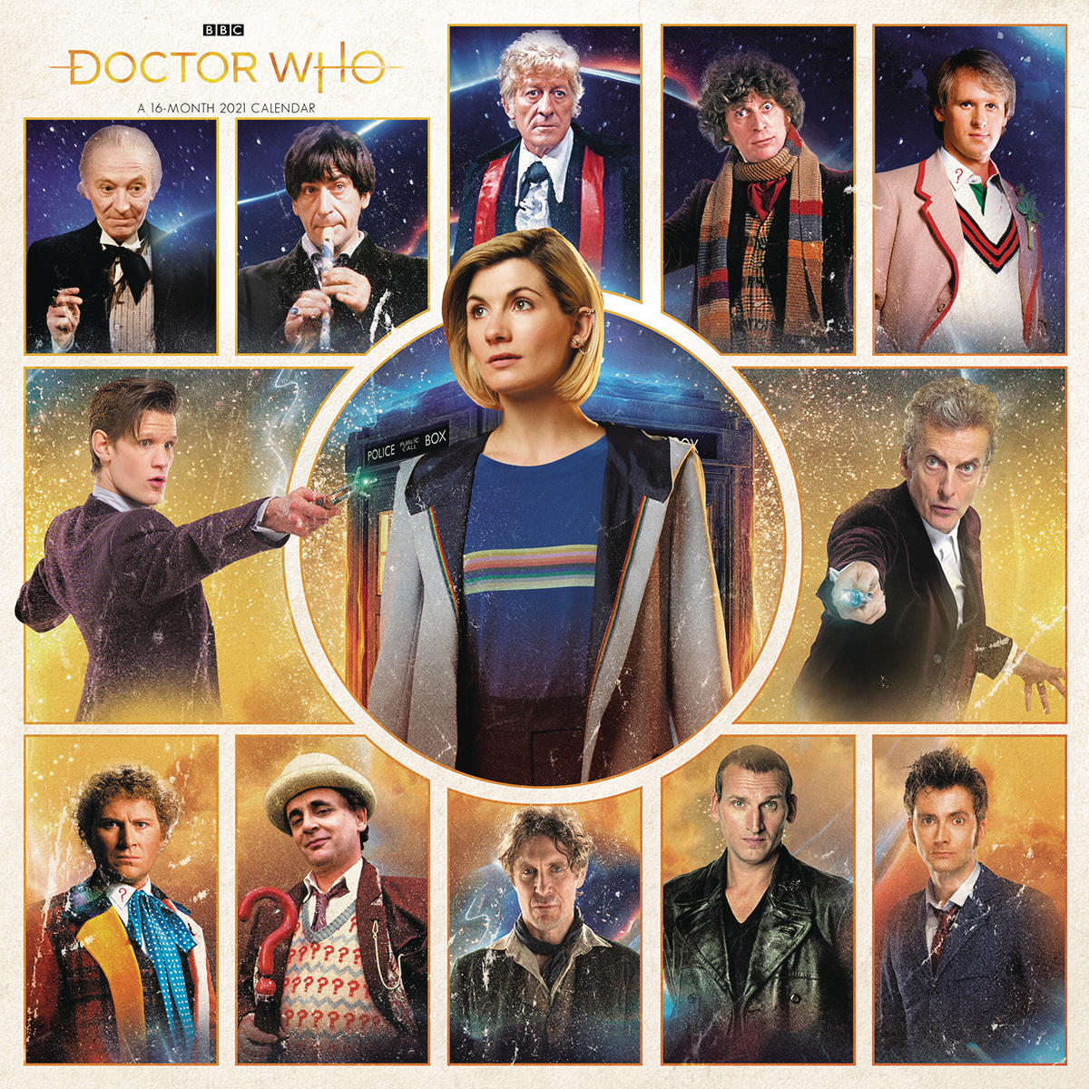 DOCTOR WHO 2021 WALL CALENDAR