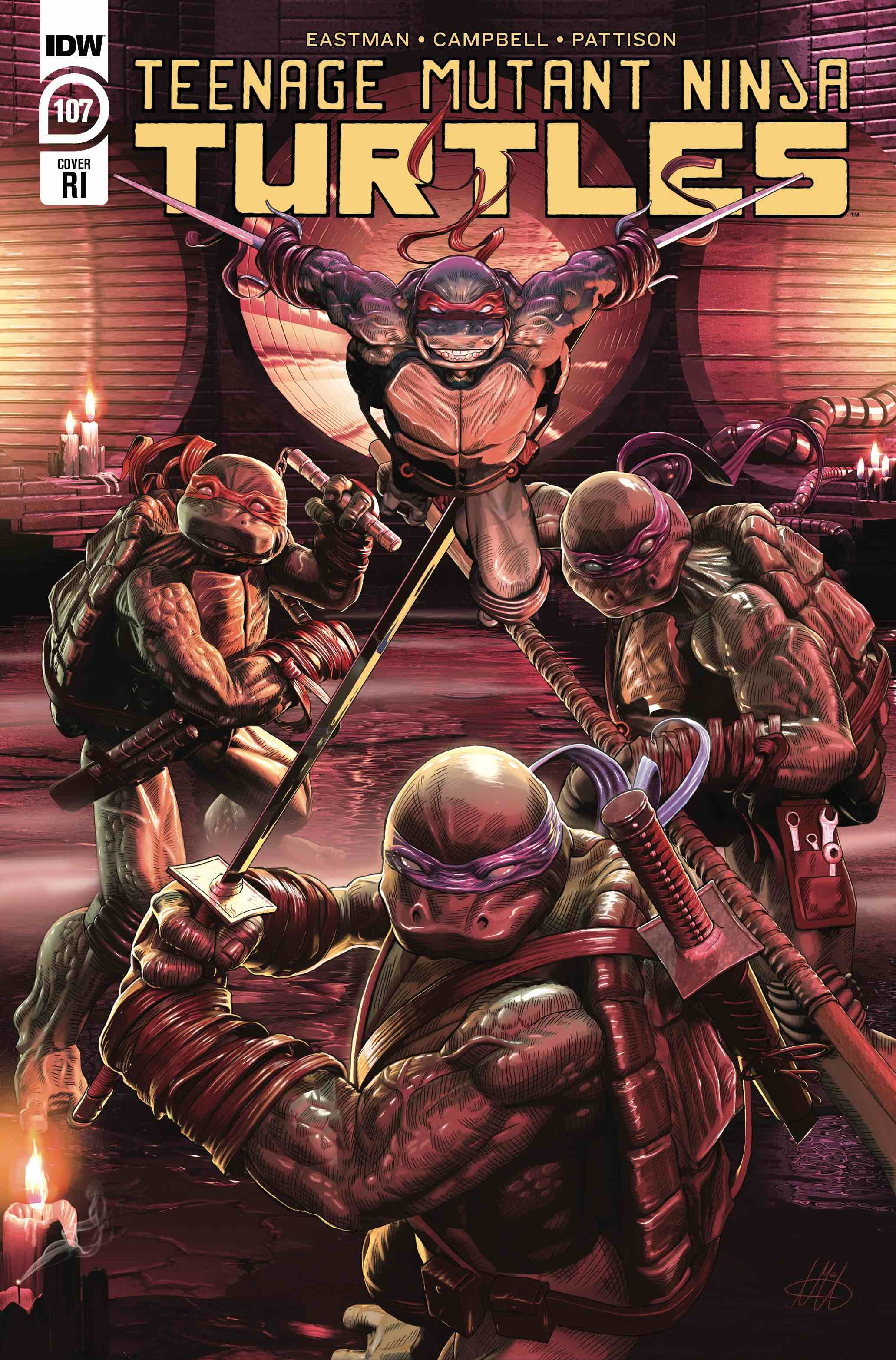 TMNT ONGOING #107 10 COPY INCV MCARDELL