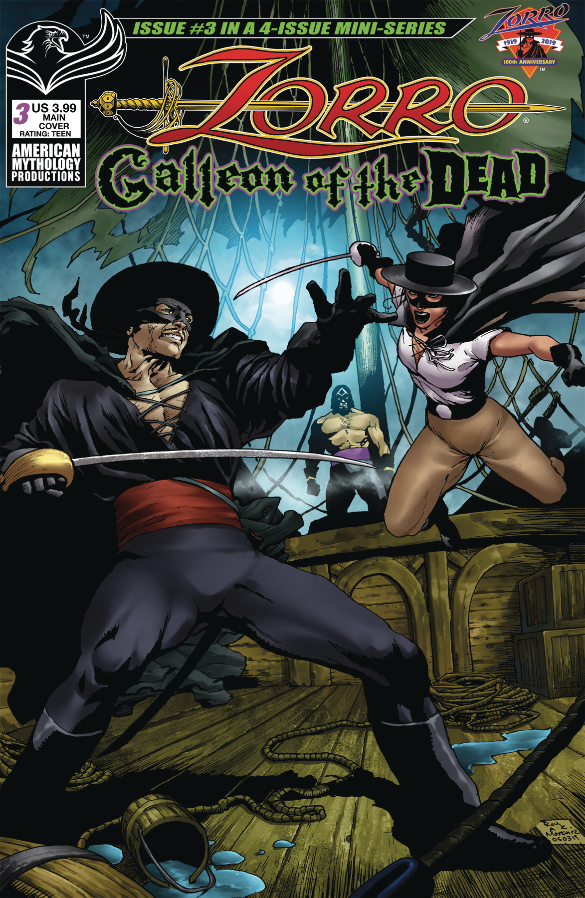 ZORRO GALLEON OF DEAD #3 CVR A MARTINEZ