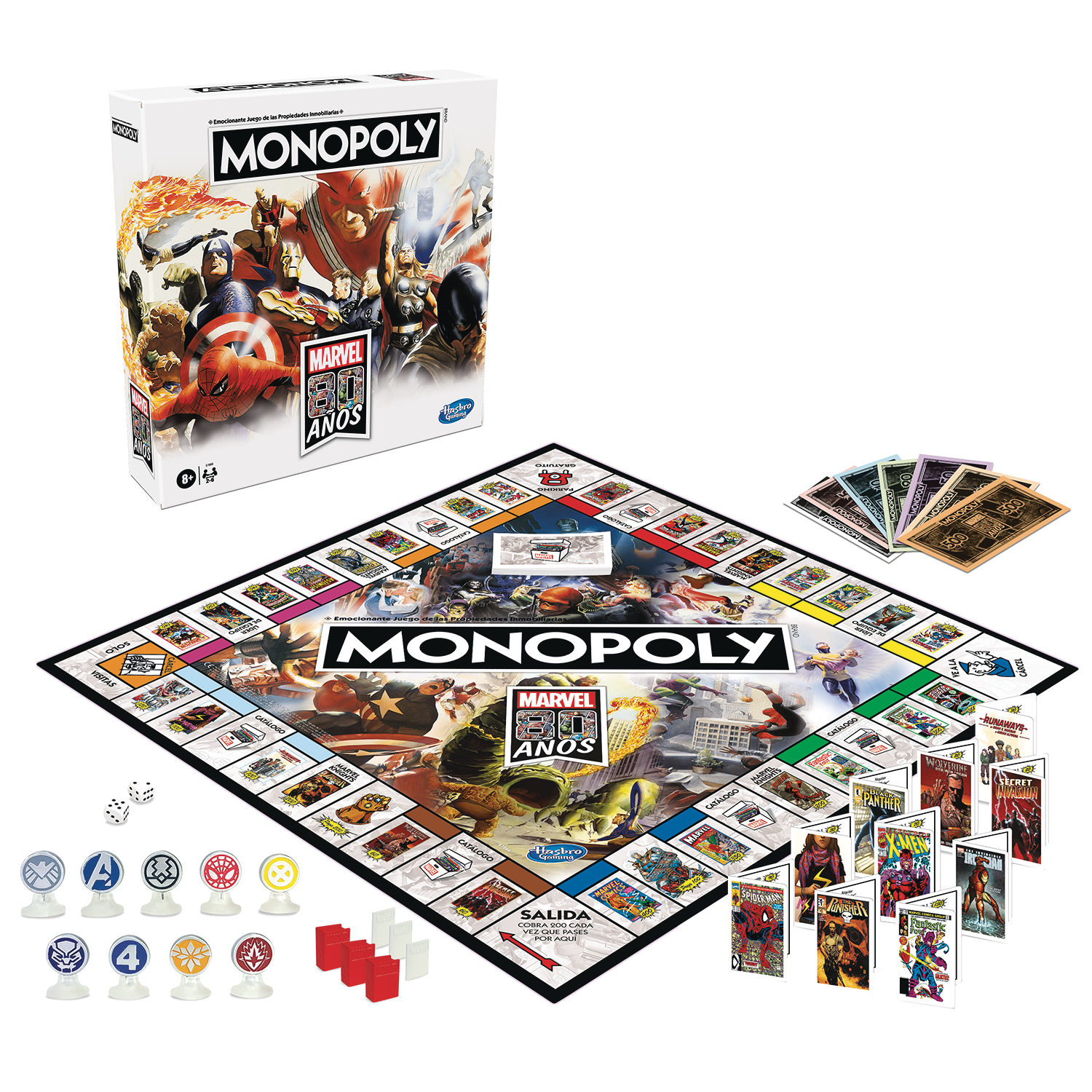 MONOPOLY MARVEL 80TH ANN EDITION GAME CS