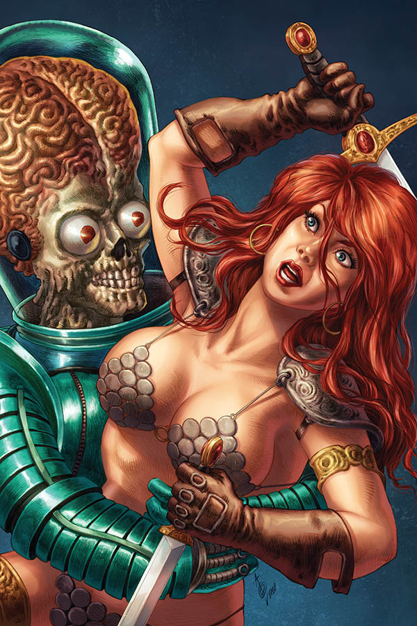 MARS ATTACKS RED SONJA #1 35 COPY QUAH VIRGIN INCV