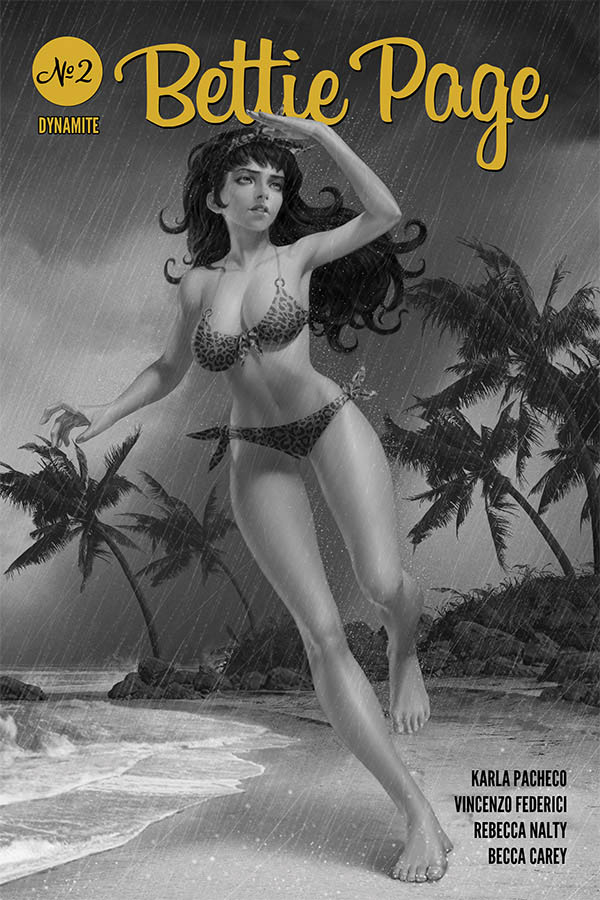 BETTIE PAGE #2 25 COPY YOON B&W INCV