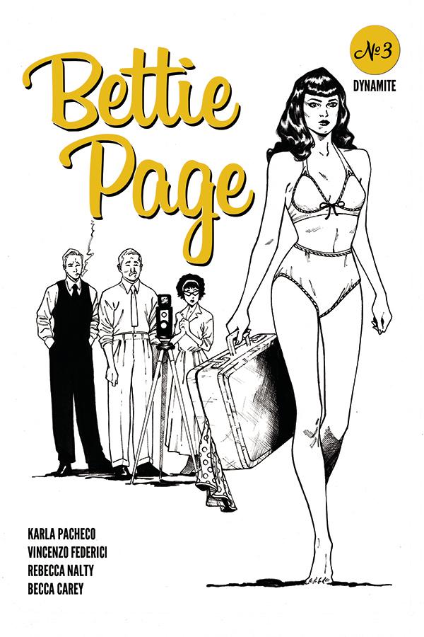 BETTIE PAGE #3 20 COPY PEEBLES HOMAGE B&W INCV