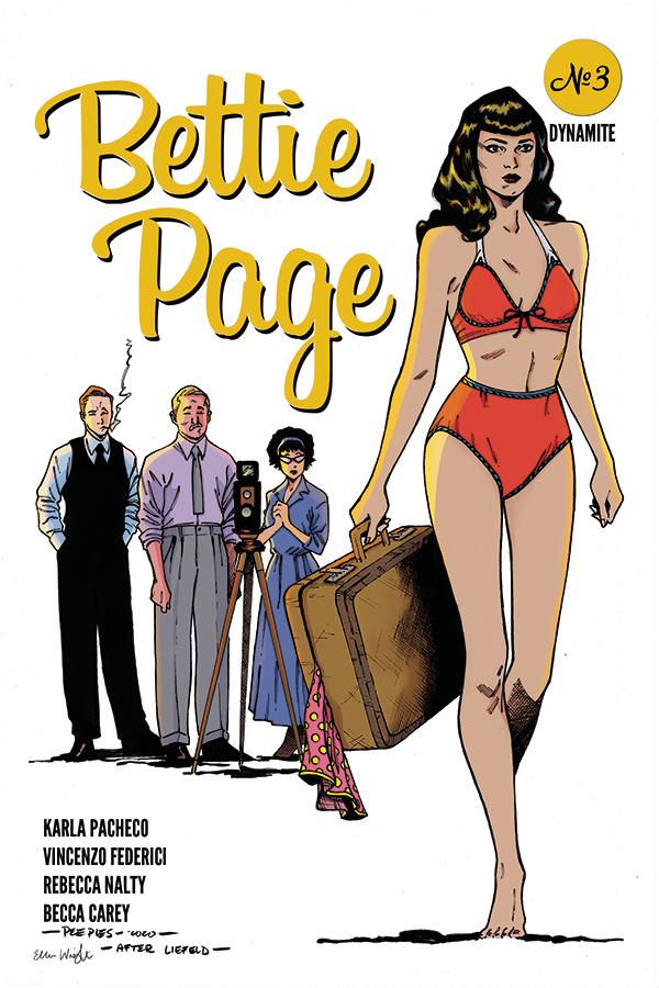 BETTIE PAGE #3 7 COPY PEEPLES HOMAGE INCV