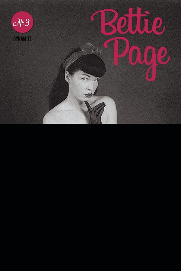 BETTIE PAGE #3 BLACK BAG PHOTO CVR (MR)