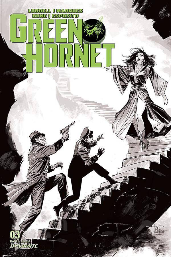 GREEN HORNET #3 20 COPY WEEKS B&W INCV