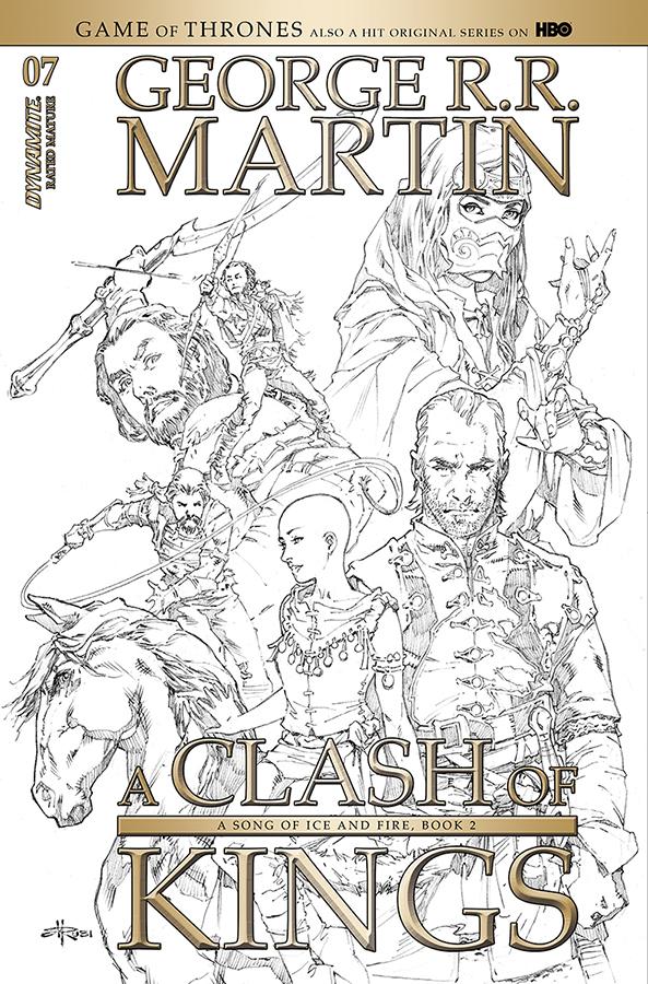 GEORGE RR MARTIN A CLASH OF KINGS #7 20 COPY RUBI B&W INCV (
