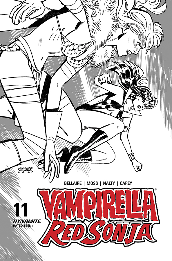 VAMPIRELLA RED SONJA #11 40 COPY ROMERO & BELLAIRE B&W INCV