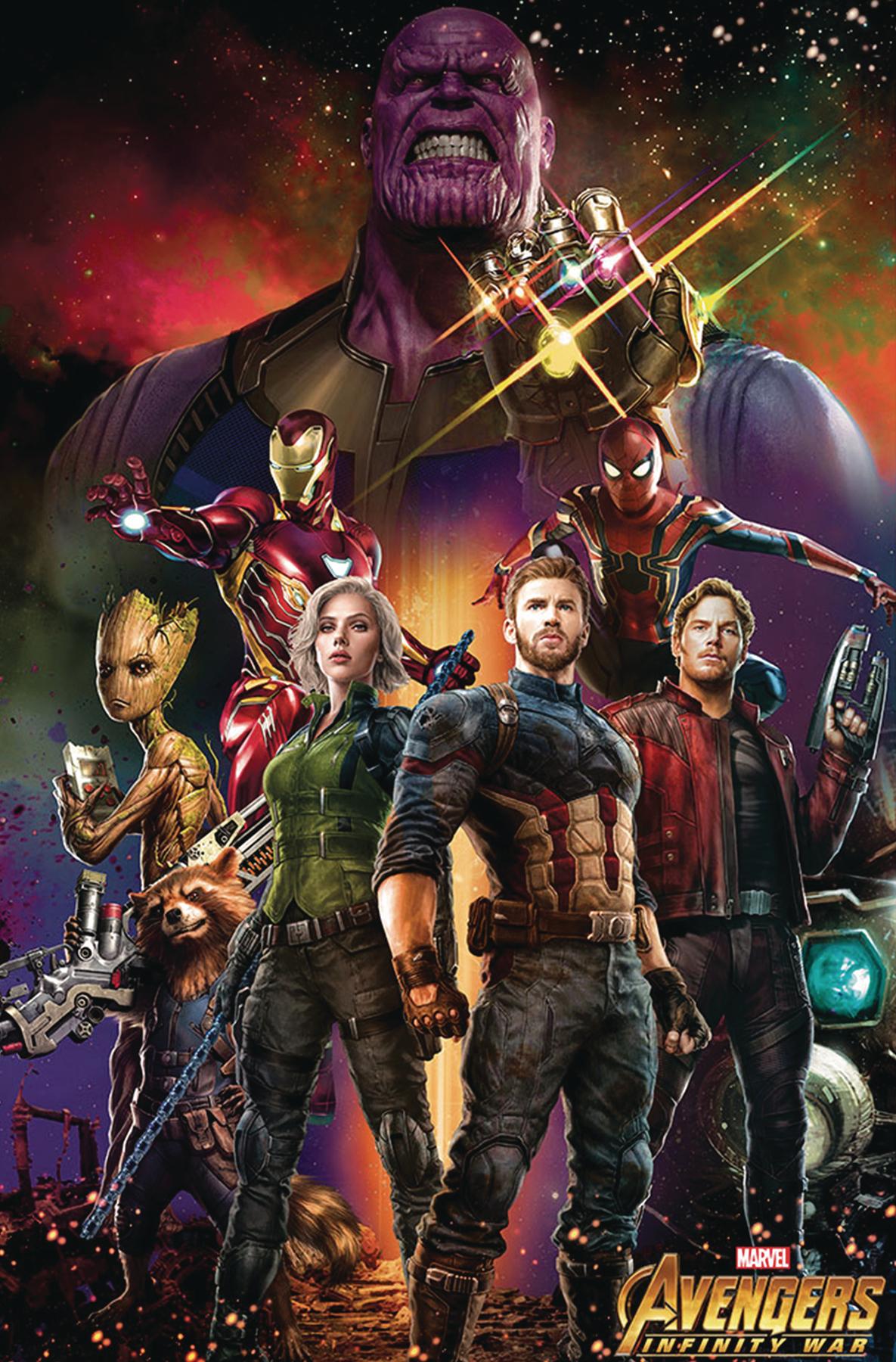 feb188732  avengers infinity war movie 11 x 17 framed
