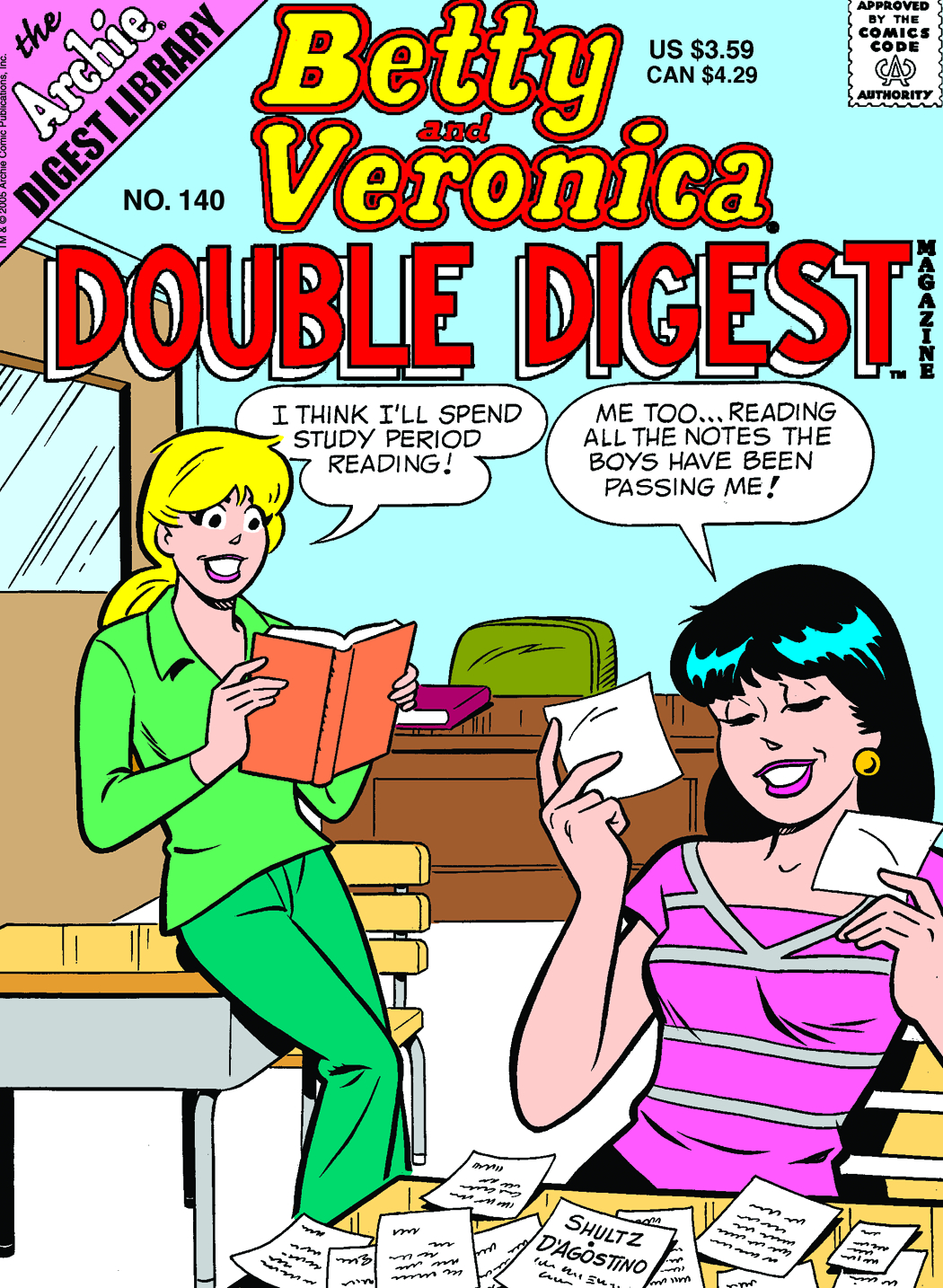 BETTY & VERONICA DOUBLE DIGEST #140