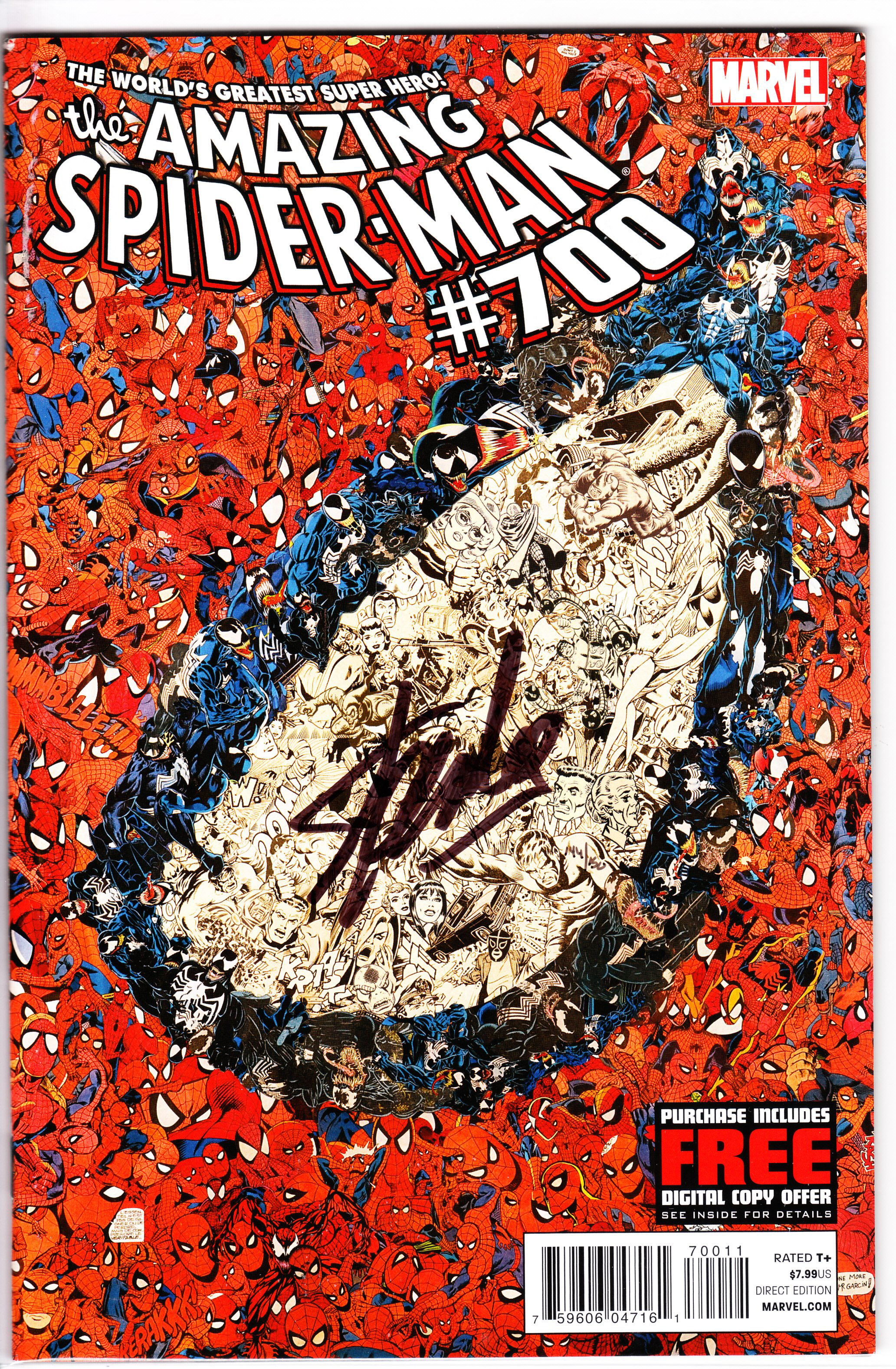 DF AMAZING SPIDER-MAN #700 LEE SGN ED