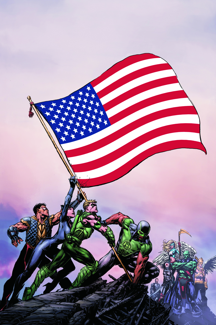 JUSTICE LEAGUE OF AMERICA #1 MONTANA VAR ED