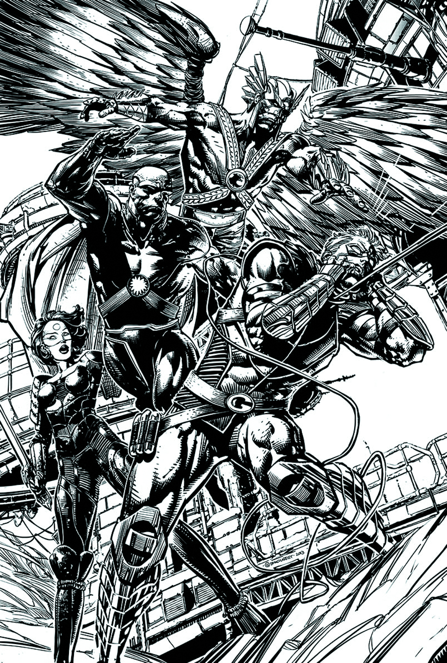 JUSTICE LEAGUE OF AMERICA #3 BLACK & WHITE VARIANT ED