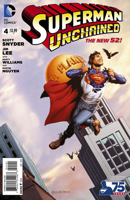 SUPERMAN UNCHAINED #4 75TH ANNIV VAR ED NEW 52 COVER