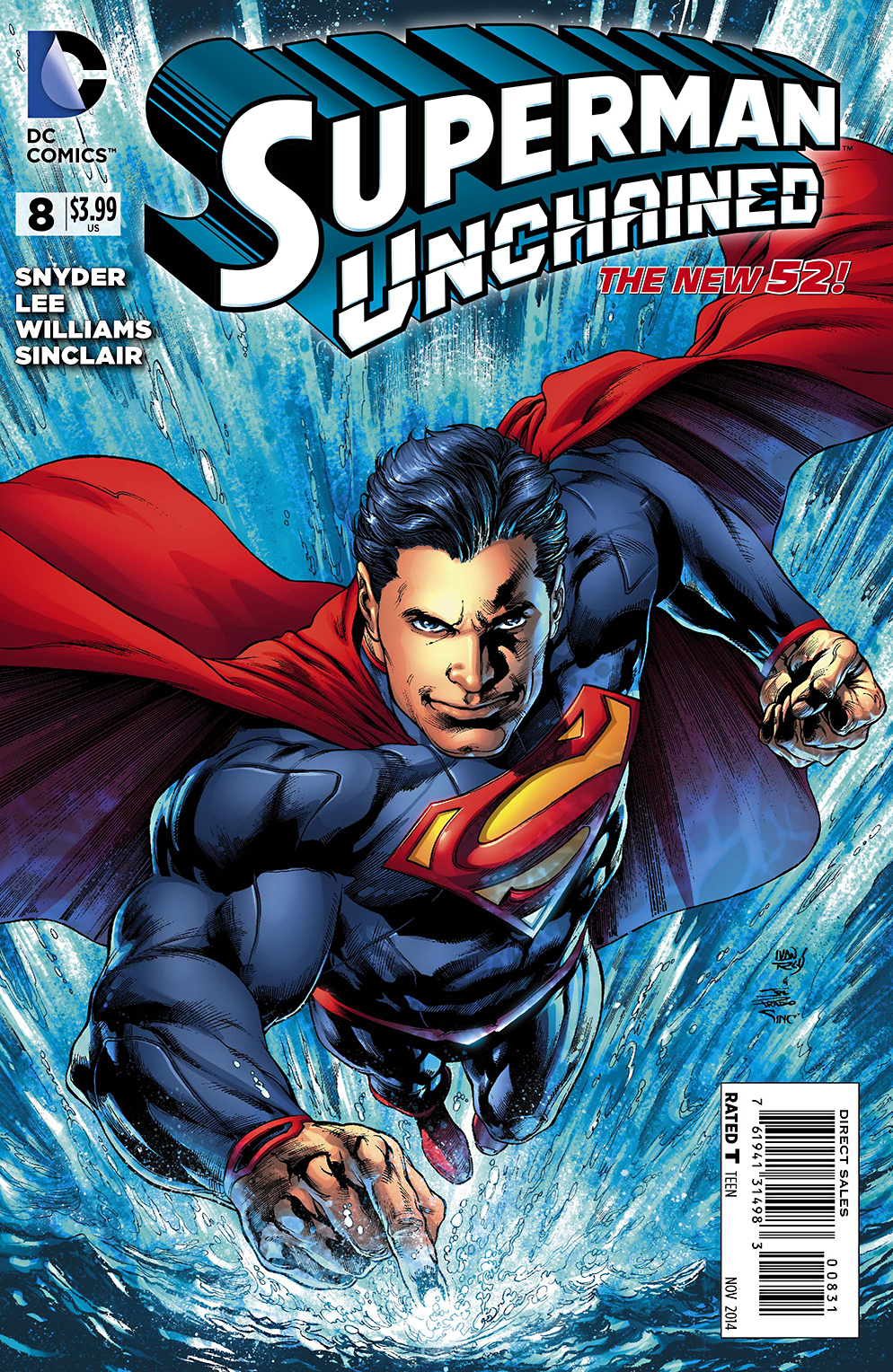 SUPERMAN UNCHAINED #8 REIS PRADO VAR ED (RES)