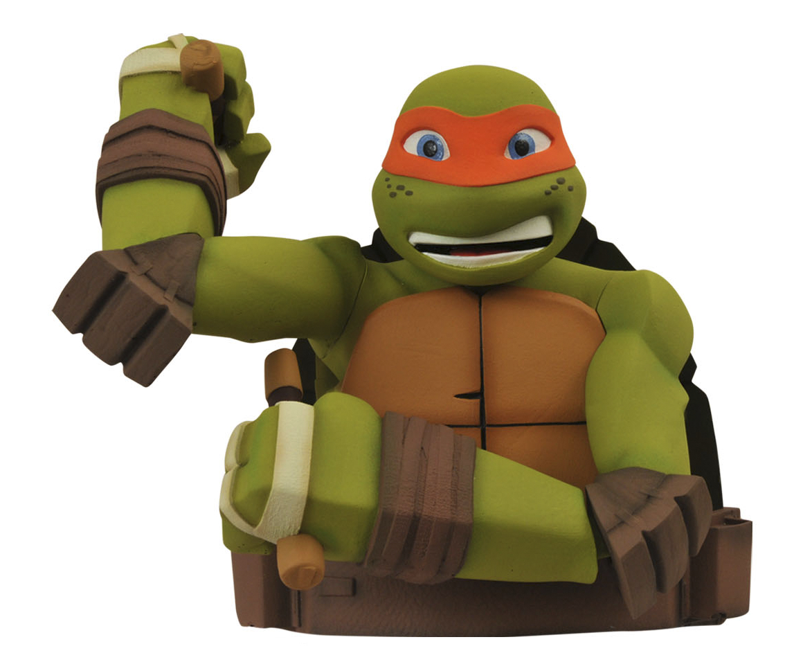TMNT MICHELANGELO BUST BANK
