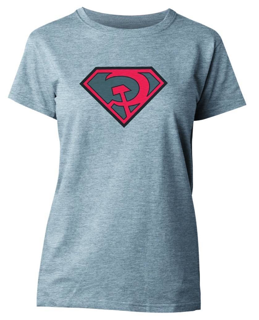 SUPERMAN RED SUN SYMBOL WOMENS T/S SM (RES)