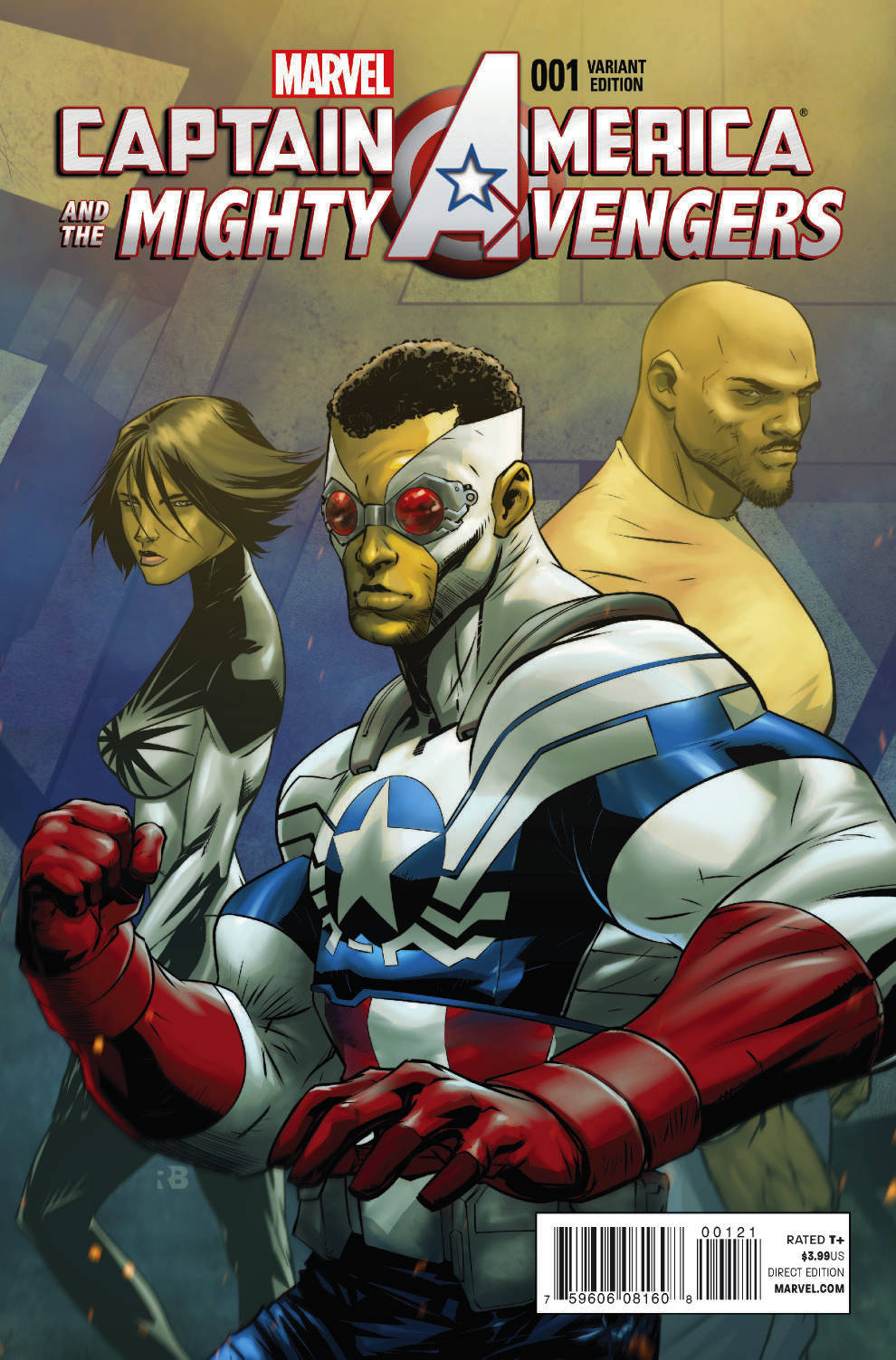 CAPTAIN AMERICA AND MIGHTY AVENGERS #1 BENJAMIN VAR AXIS
