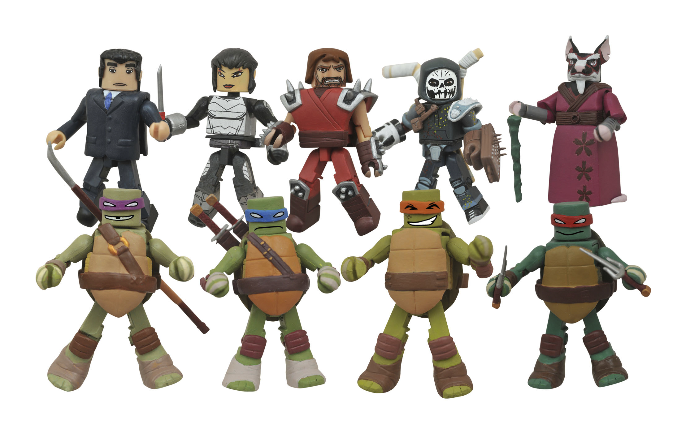 TMNT MINIMATES SER 2 FOIL BMB COUNTER DISPLAY (O/A)