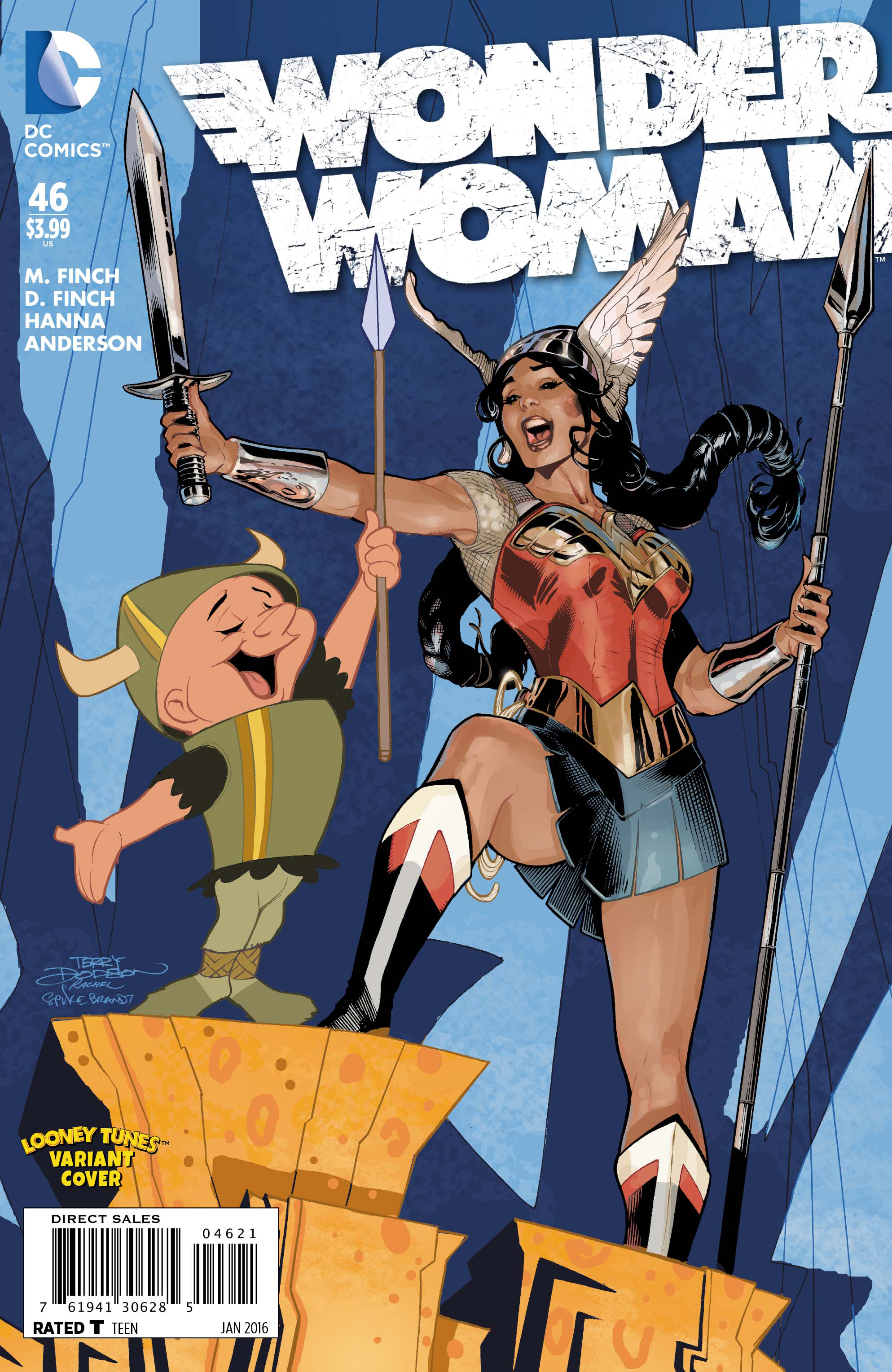 WONDER WOMAN #46 LOONEY TUNES VAR ED