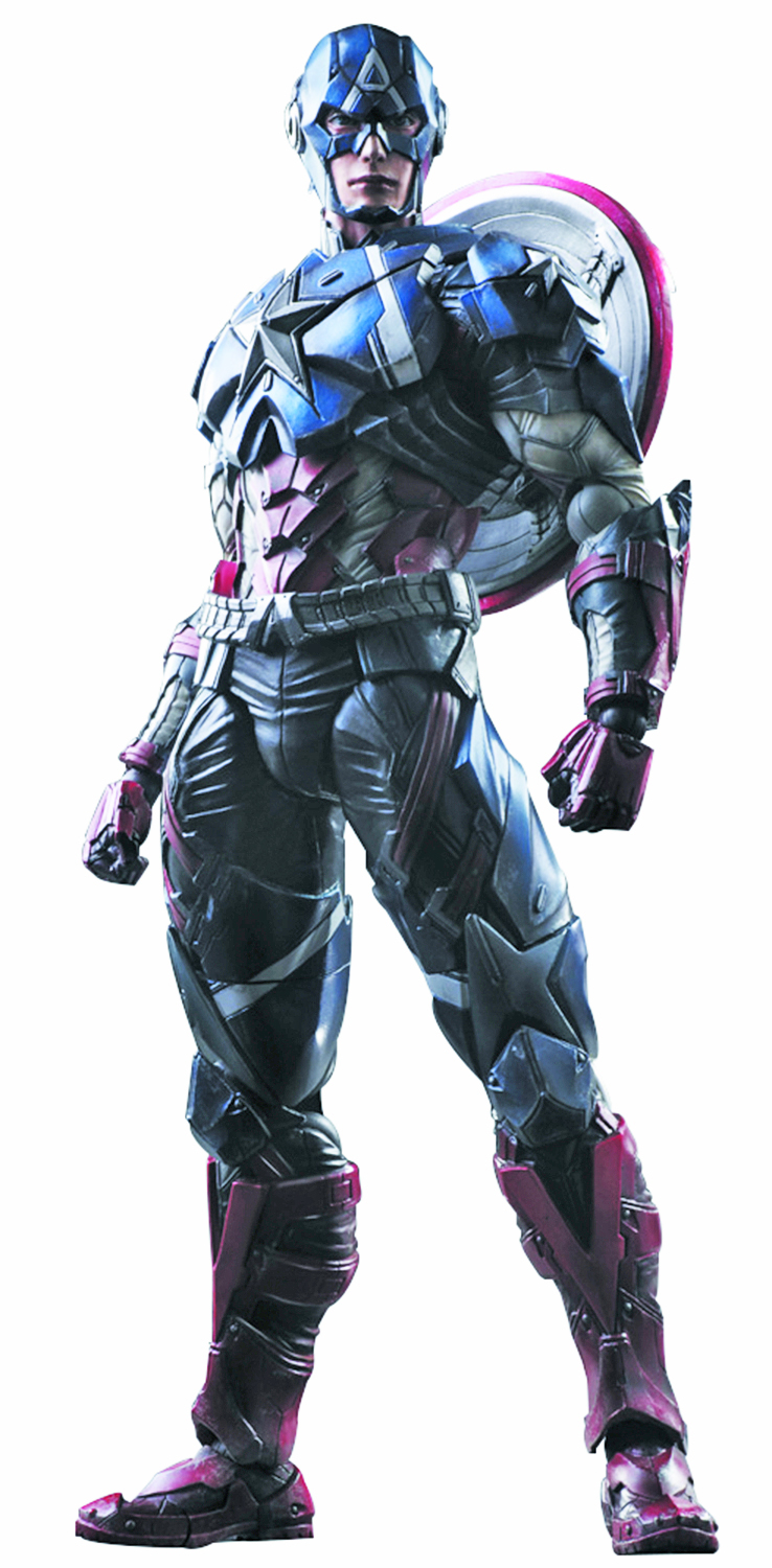 MARVEL UNIVERSE VARIANT PLAY ARTS KAI CAPTAIN AMERICA AF