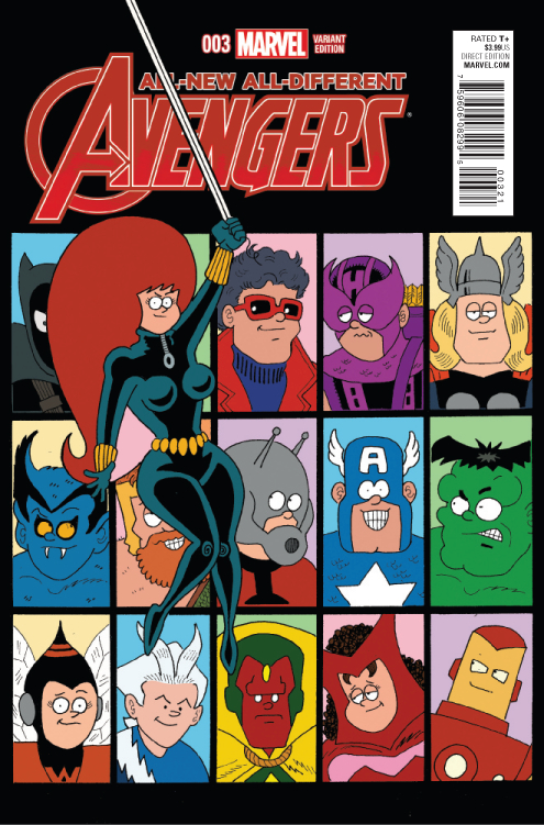 ALL NEW ALL DIFFERENT AVENGERS #3 HEMBECK VAR