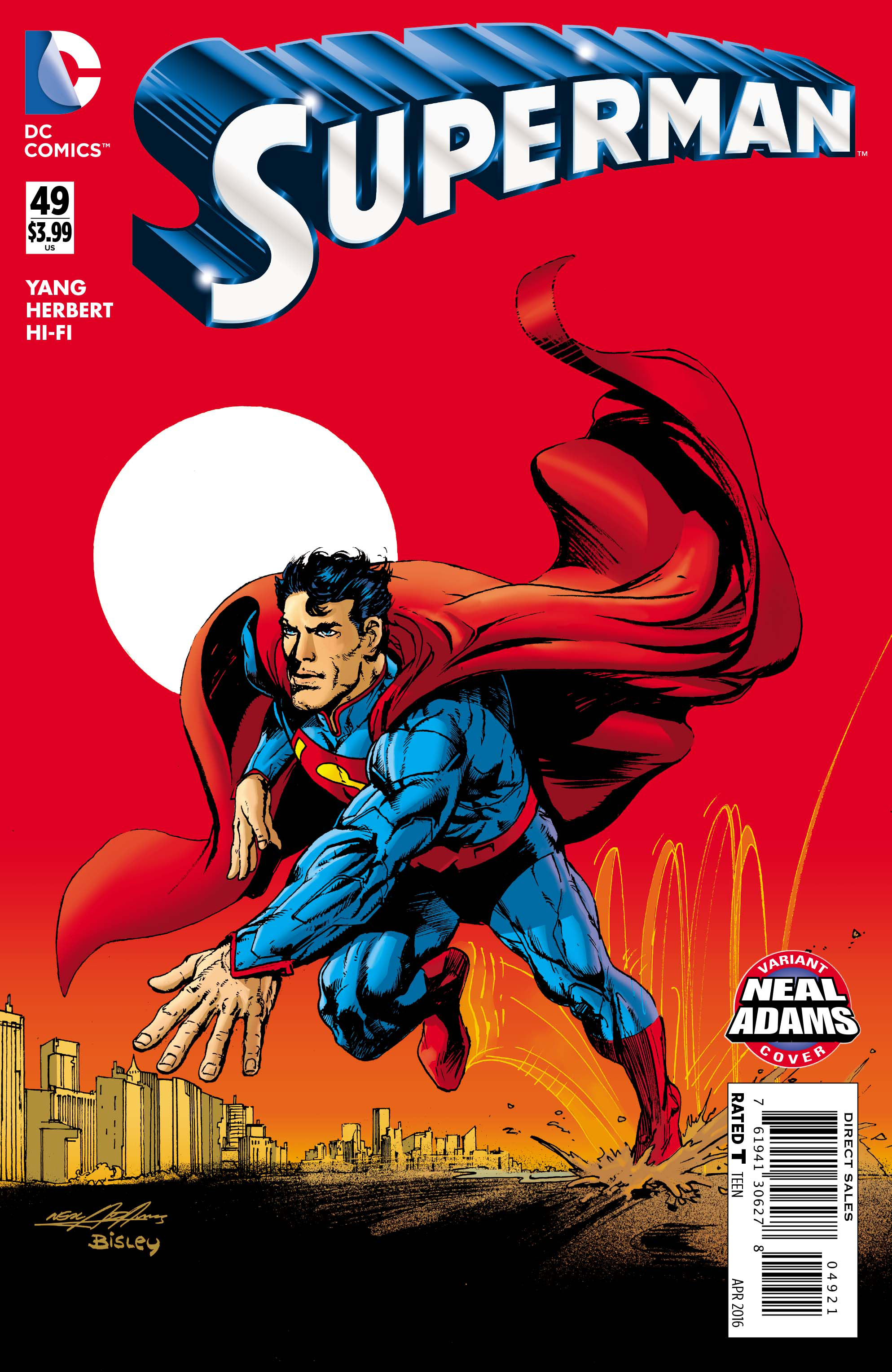 SUPERMAN #49 NEAL ADAMS VAR ED