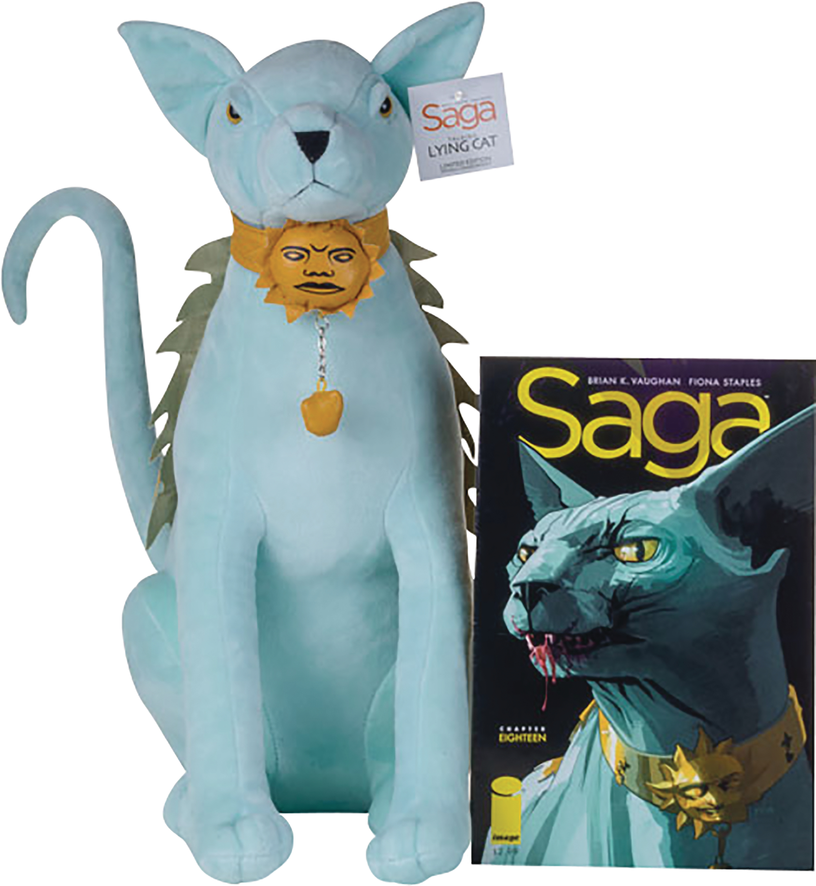 SAGA LYING CAT TALKING PLUSH DOLL