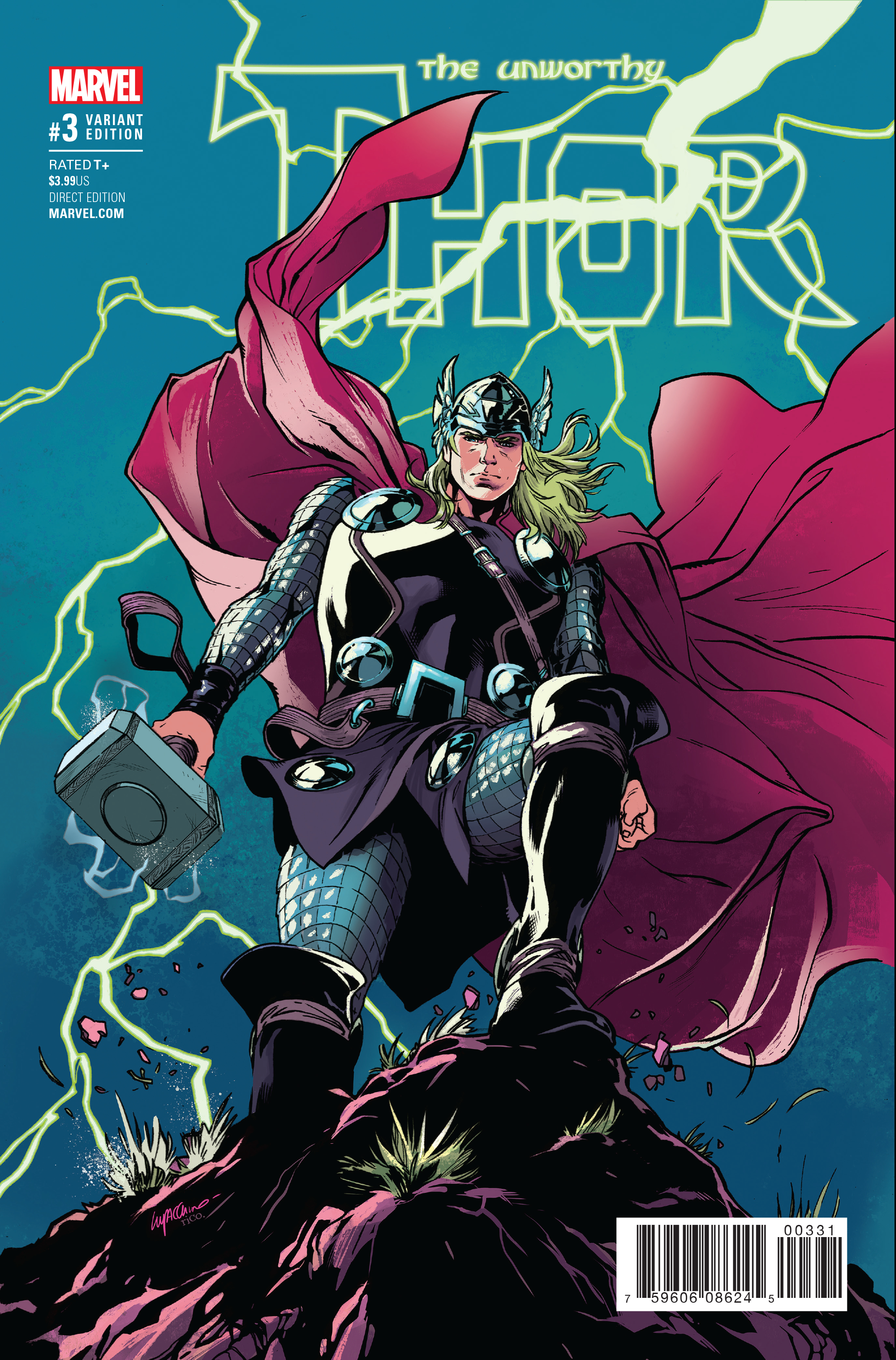 UNWORTHY THOR #3 (OF 5) LUPACCHINO VAR