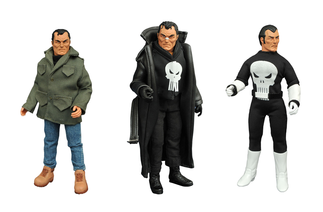 MARVEL PUNISHER 8IN RETRO AF SET