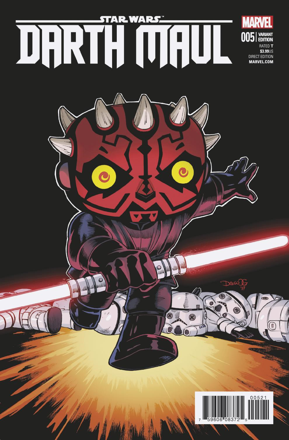 STAR WARS DARTH MAUL #5 (OF 5) OLORTEGUI FUNKO VAR