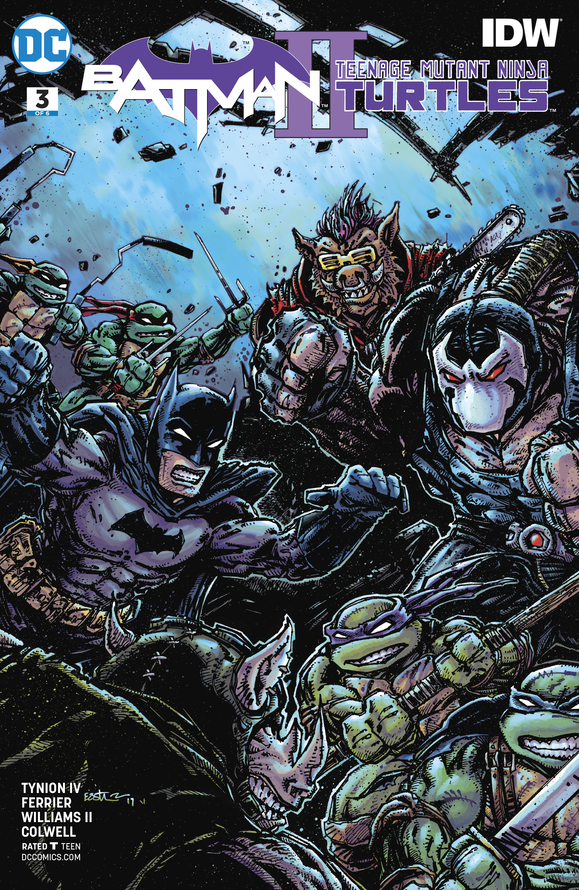 BATMAN TEENAGE MUTANT NINJA TURTLES II #3 (OF 6) VAR ED