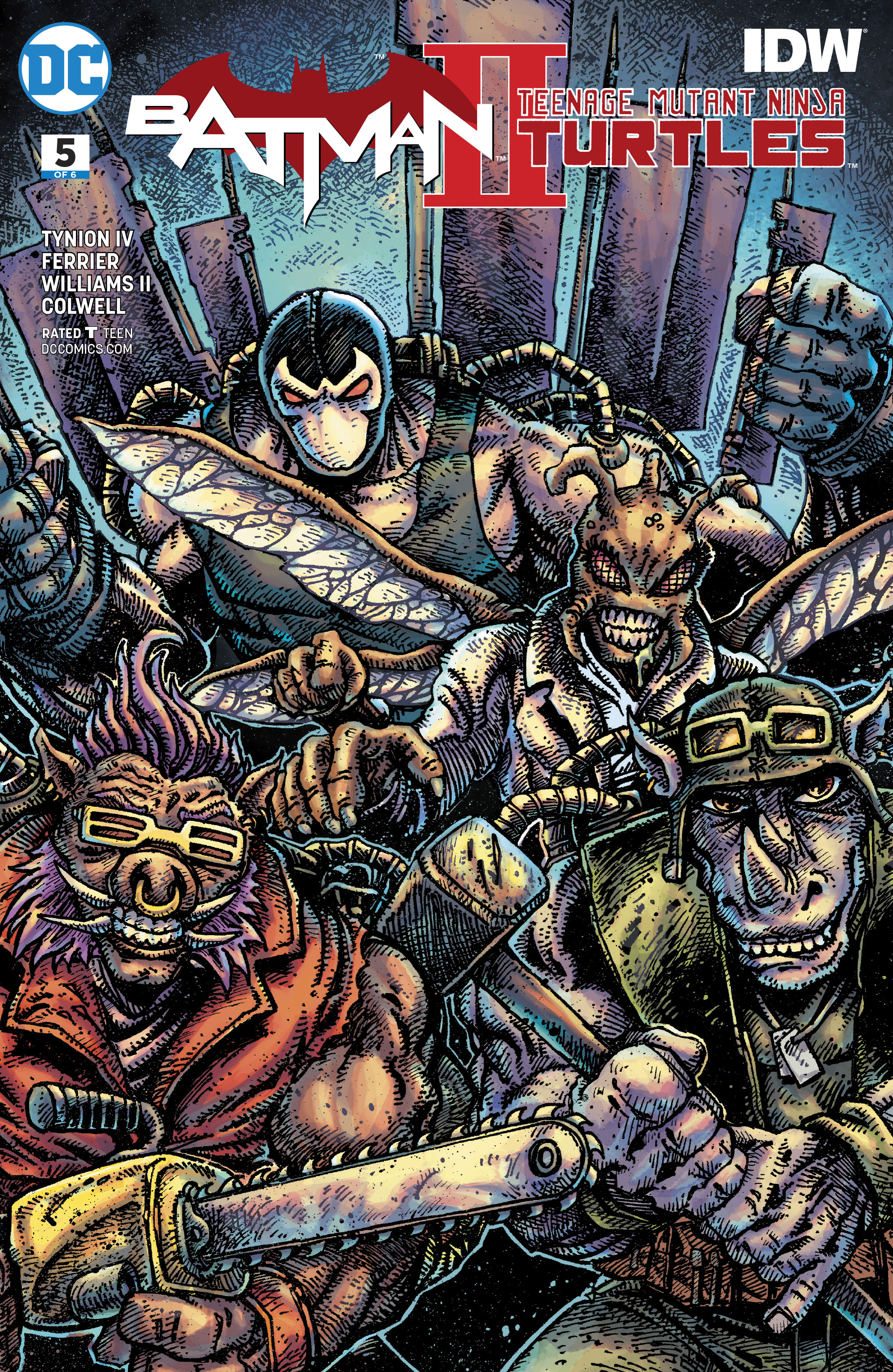 BATMAN TEENAGE MUTANT NINJA TURTLES II #5 (OF 6) VAR ED