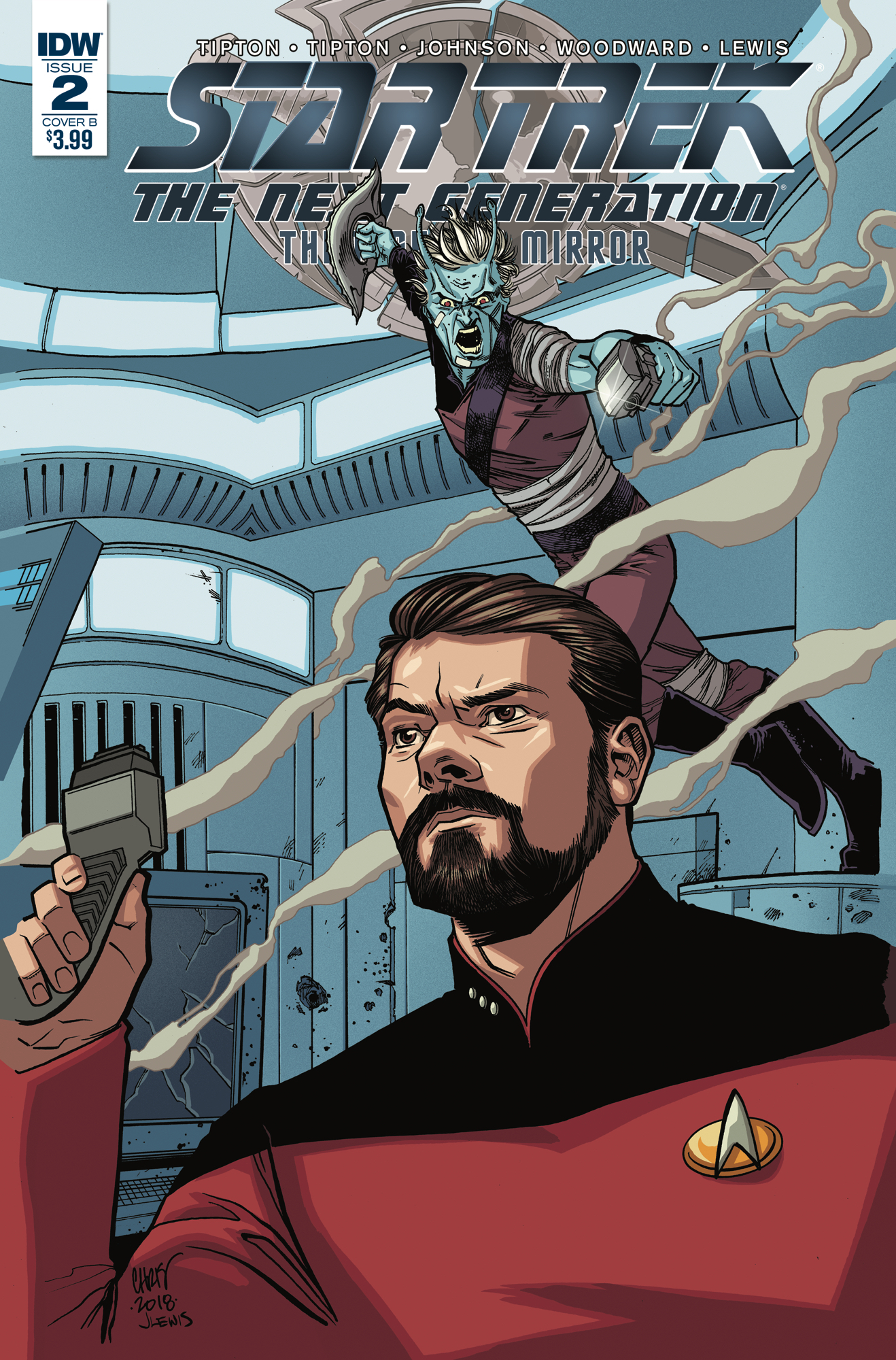 STAR TREK TNG THROUGH THE MIRROR #2 CVR B JOHNSON