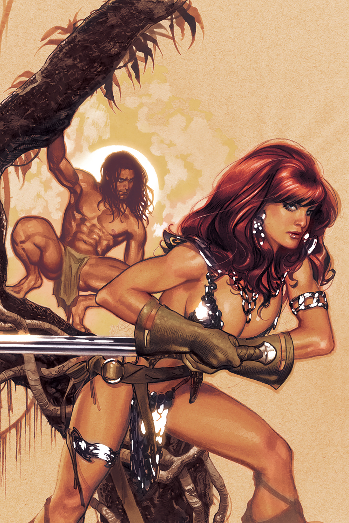 RED SONJA TARZAN #1 CVR J 50 COPY HUGHES VIRGIN INCV