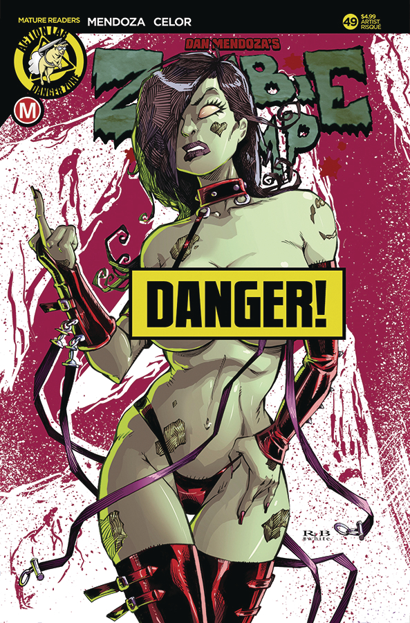 ZOMBIE TRAMP ONGOING #49 CVR D WHITE RISQUE (MR)