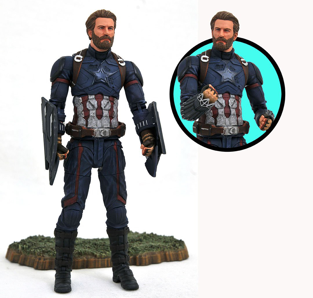 MARVEL SELECT AVENGERS 3 CAPTAIN AMERICA AF (JAN188711)
