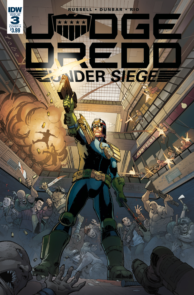 JUDGE DREDD UNDER SIEGE #3 (OF 4) CVR A DUNBAR