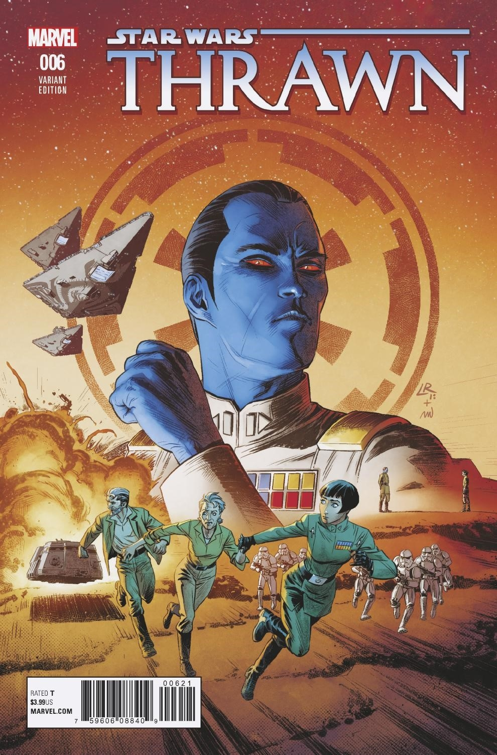 STAR WARS THRAWN #6 (OF 6) LUKE ROSS VAR