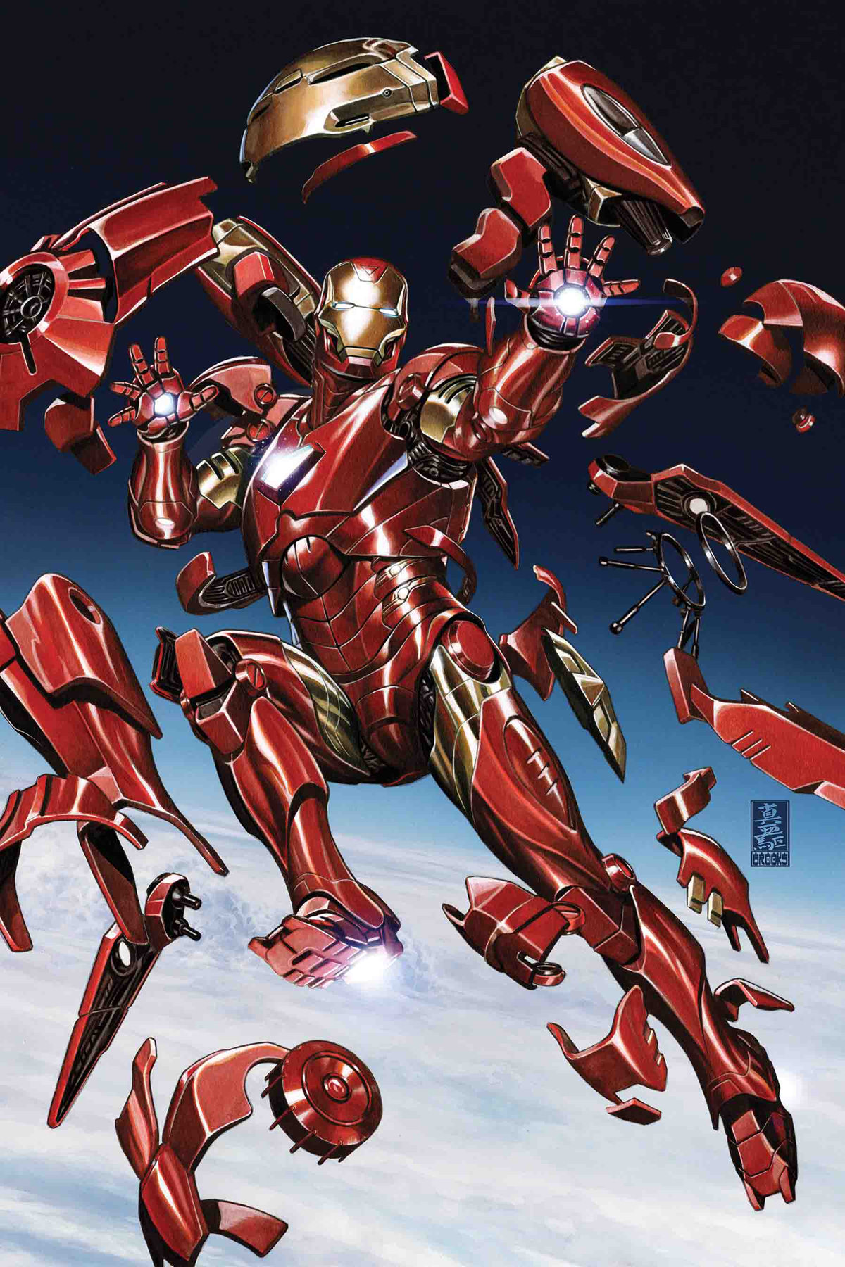 TONY STARK IRON MAN #2 BROOKS VAR