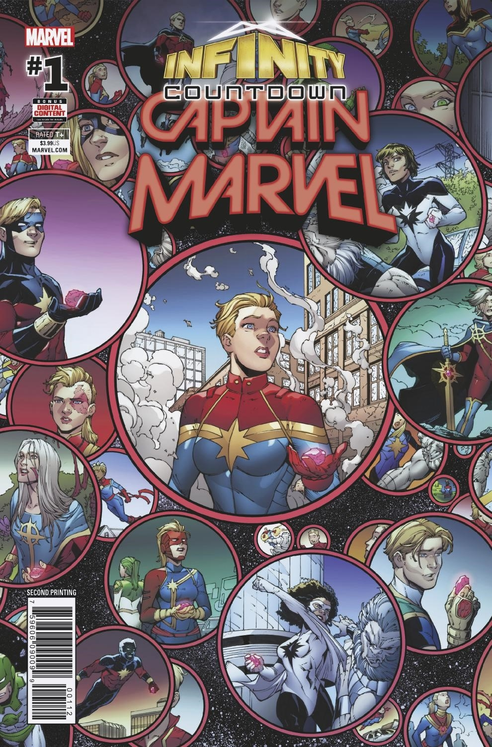 INFINITY COUNTDOWN CAPTAIN MARVEL #1 2ND PTG OLOTEGUI VAR