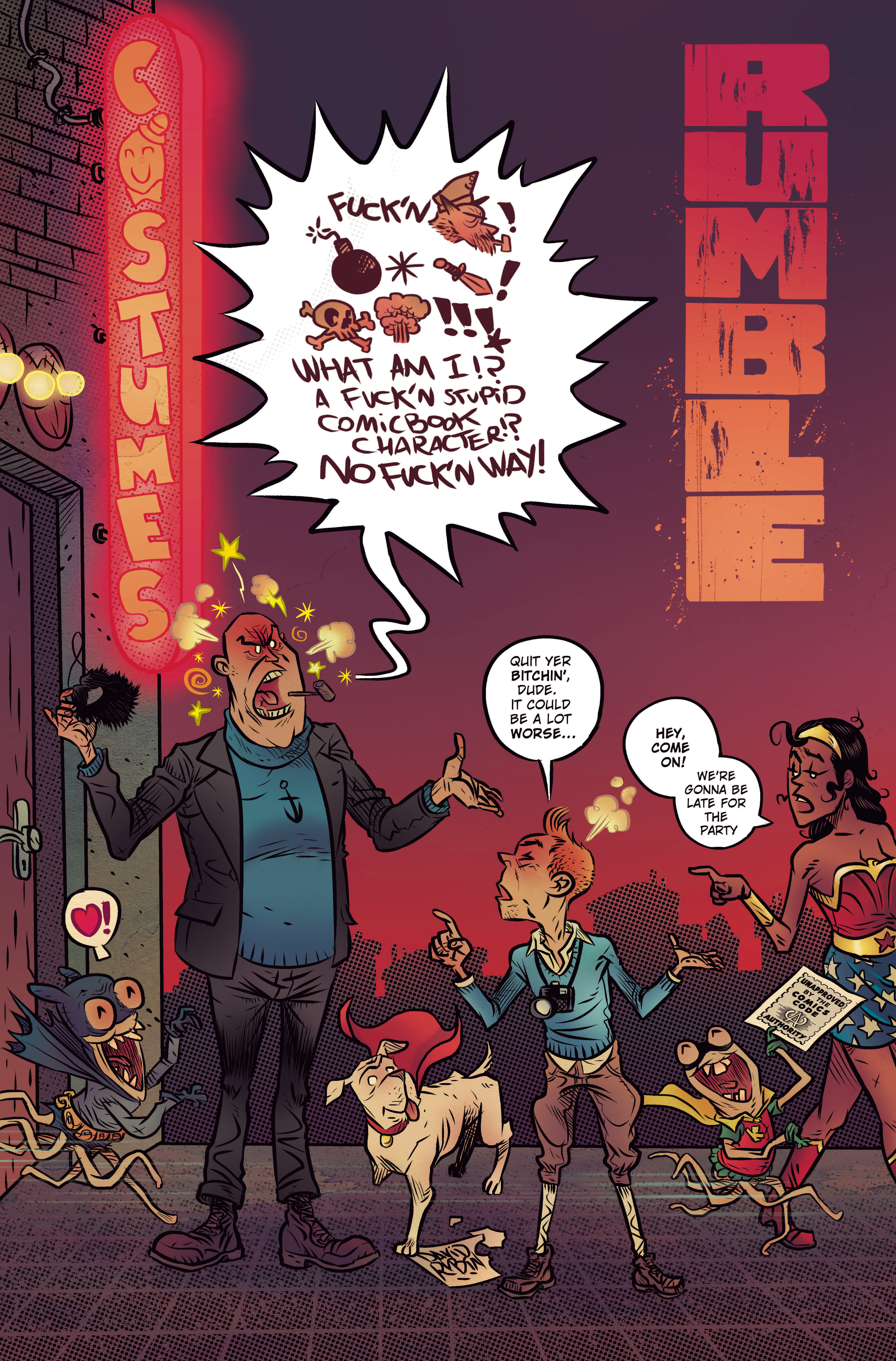 RUMBLE #7 CVR D CBLDF CHARITY VAR UNCENSORED (MR)