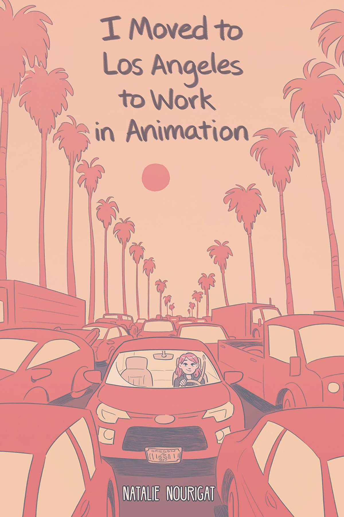 I MOVED TO LOS ANGELES WORK ANIMATION ORIGINAL GN