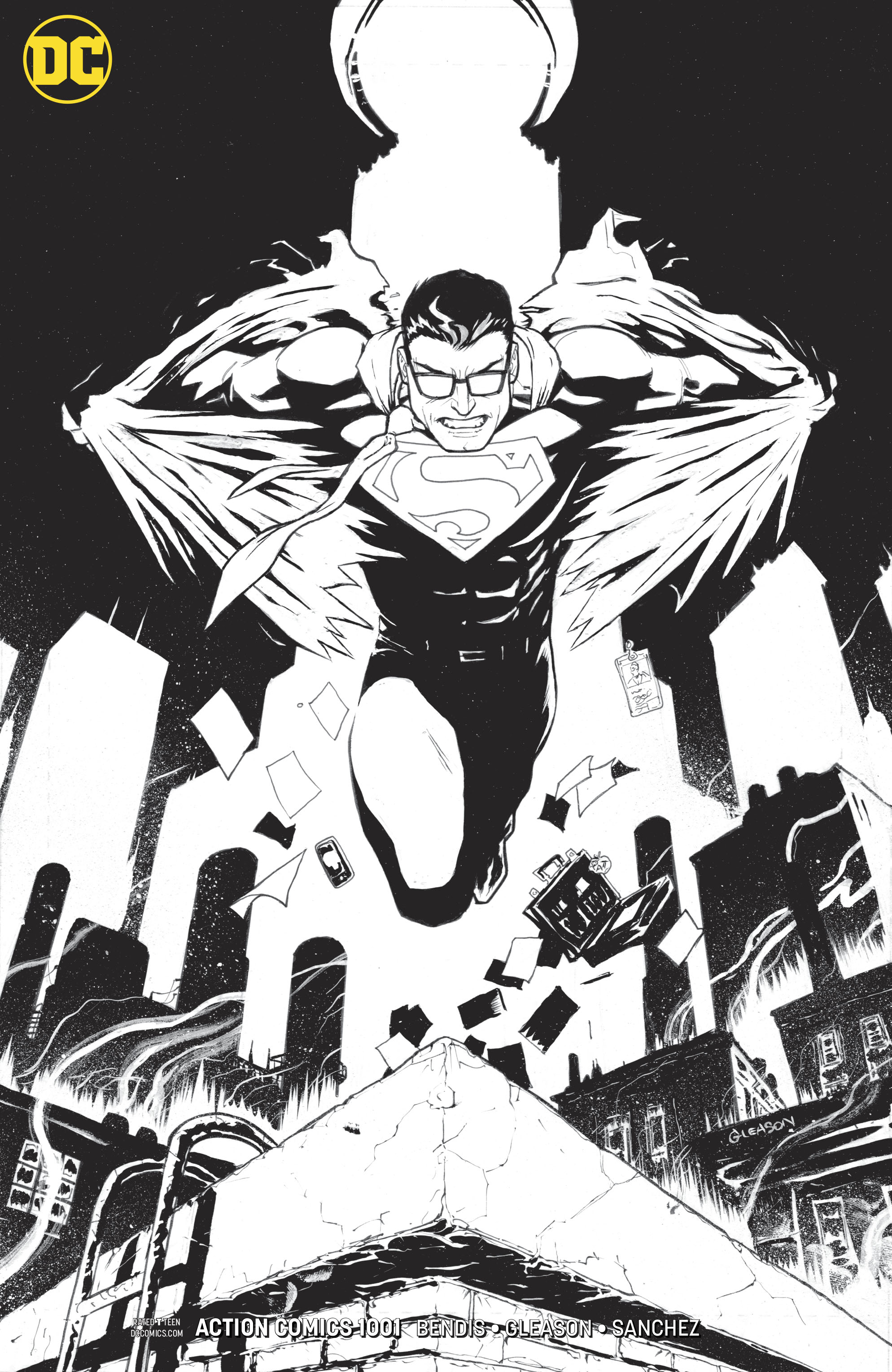 ACTION COMICS #1001 INKS ONLY VAR ED