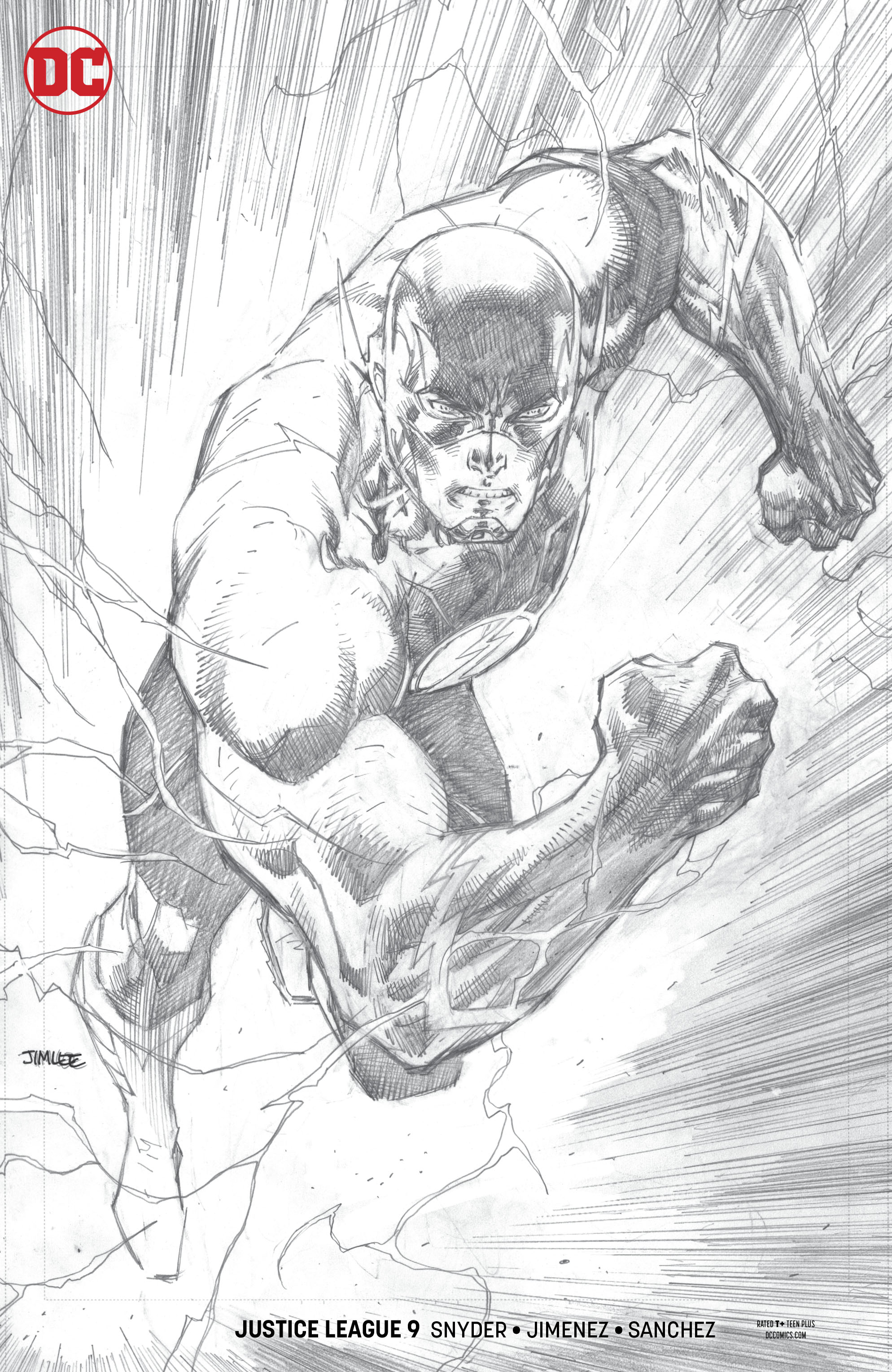 JUSTICE LEAGUE #9 JIM LEE PENCIL VAR ED (DROWNED EARTH)