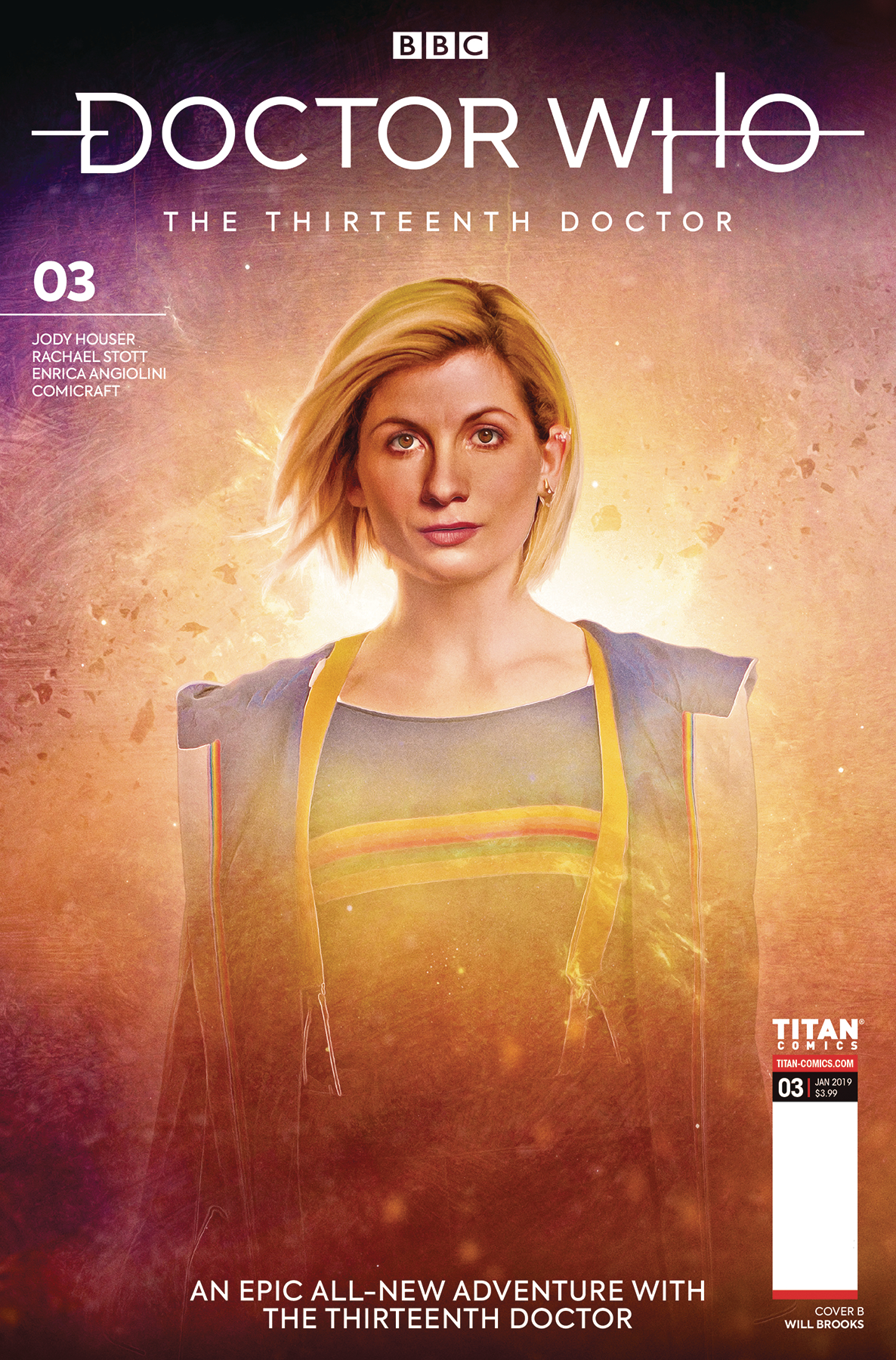 DOCTOR WHO 13TH #3 CVR B BROOKS