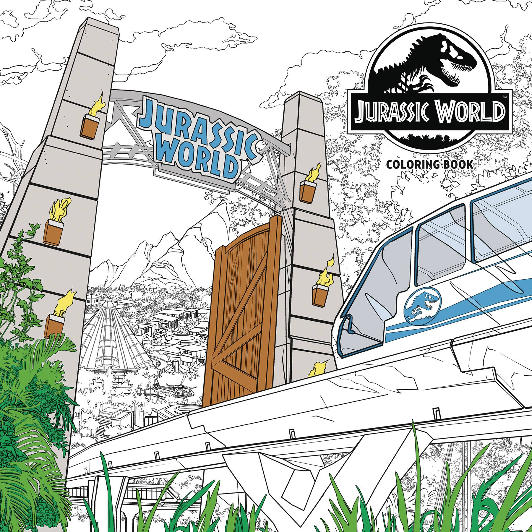 JURASSIC WORLD ADULT COLORING BOOK TP (JUL189184)