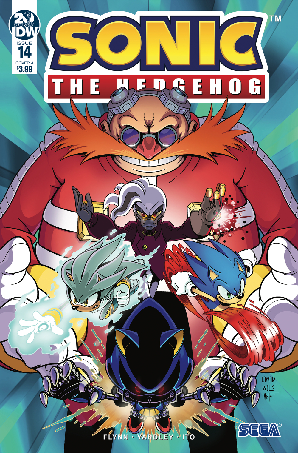 SONIC THE HEDGEHOG #14 CVR A WELLS